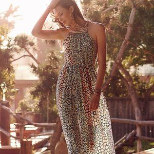 Beautiful bejewelled halter HD in Paris Maxi dress